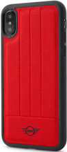 Mini,(Mini Cooper ) , Case for iPhone Xs/X,  Hybrid Case ,  Debossed Lines , Leather - Red