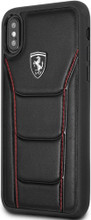 """Ferrari , Case for iPhone X, collection """" HERITAGE """"  488  , Genuine Leather - Black"""