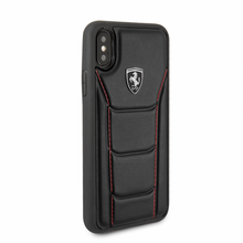"Ferrari , Case for iPhone X, collection "" HERITAGE ""  488  , Genuine Leather - Black"