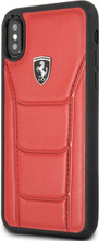 """Ferrari , Case for iPhone X, collection """" HERITAGE """"  488  , Genuine Leather - Red"""