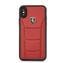 "Ferrari , Case for iPhone Xs/X, collection "" HERITAGE ""  488  , Genuine Leather - Red"