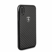 "Ferrari , Case for iPhone X, Collection ""HERITAGE"" , Real Carbon - Black"