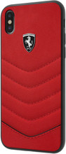 "Ferrari, Case for iPhone Xs/X, Collection ""HERITAGE"", Genuine leather, Quilted , Red"