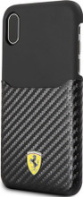 "Ferrari , Case WITH CARD SLOT for iPhone X, Collection ""SF"" , CARBON   - BLACK"