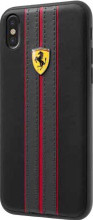 Ferrari , case for iPhone 8 ( new iPhone 2017 ),  leather  - ON TRACK LOGO- Black