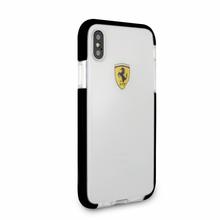 Ferrari, Case for iPhone X , SHOCKPROOF, Transparent - Black