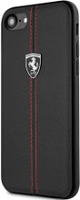 """Ferrari, Case for iPhone 8 /7 , Collection """"HERITAGE"""" , W vertical contrasted stripe - Black"""