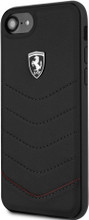 Ferrari, case for iPhone 8/7 , HERITAGE Collection ,  Genuine leather Quilted , - Black