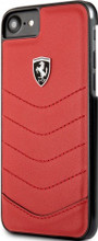 Ferrari, case for iPhone 8/7 , HERITAGE Collection ,  Genuine leather Quilted , - Red