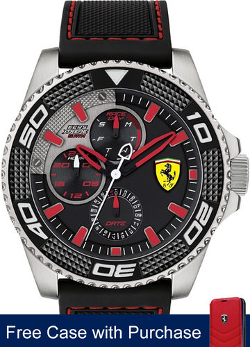 Scuderia Ferrari Kers Xtreme Watch, stainless steel case 48mm ,  with Red Hands Colour