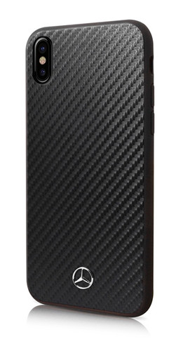 "Mercedes, Case for iPhone Xs/X, Collection ""DYNAMIC"", Real Carbon fiber, Glossy Black"
