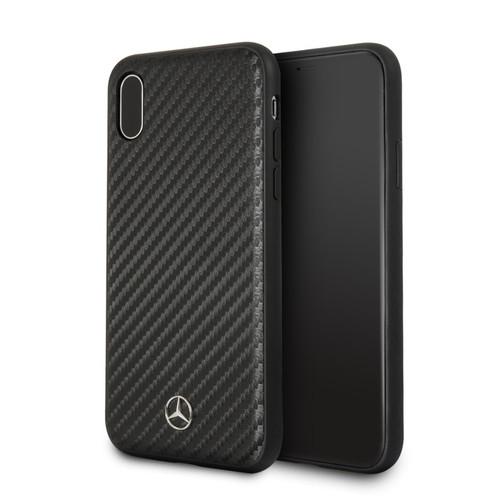 "Mercedes, Case for iPhone X, Collection ""DYNAMIC"" , Real Carbon fiber, Matt  Black"