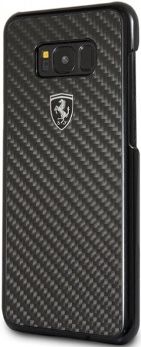 Hard-case, Ferrari HERITAGE COLLECTION for Samsung S8 Plus, Carbon Fiber, Black.