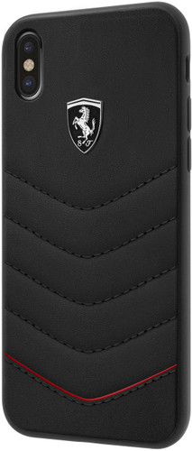 "Ferrari , Case for iPhone Xs/X, collection ""HERITAGE"" , Genuine leather , Quilted - Black"