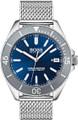 Hugo Boss  Watch, Ocean Edition with Luminova technology, Blue Dial and mesh bracelet