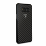 """Ferrari case for  Samsung Galaxy S8 Plus ,collection """" Heritage """" , Real Carbon , Black"""