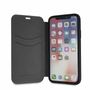 Ferrari , Book-case for iPhone X,  leather with contrasted stitchings - Black Carbon