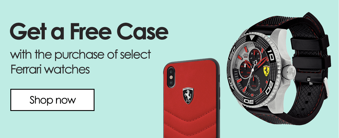 Get a free case - with the purchase of select ferrari watches. Shop now.