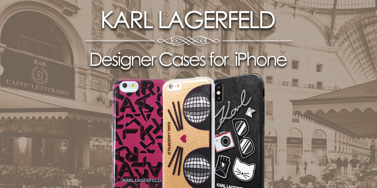 Designer iPhone Cases by Karl Lagerfeld