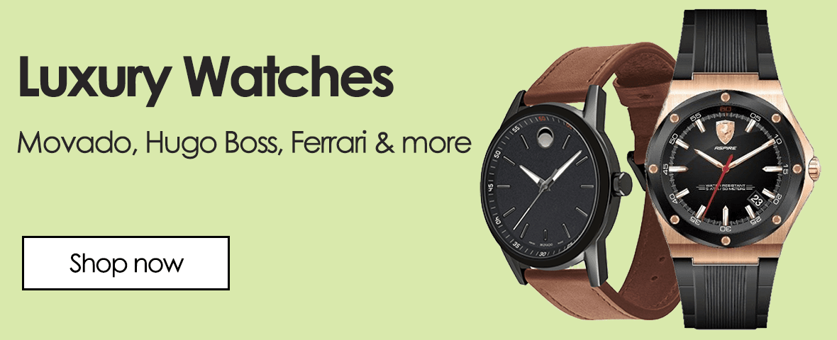 Luxury watches. By Movado, Hugo boss, Ferrari and more.