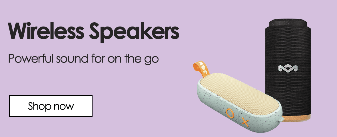 Wireless speakers. Powerful sound for on the go.