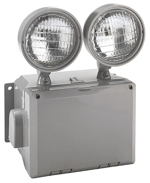 Outdoor Led Emergency Light With Photocell And Battery Backup