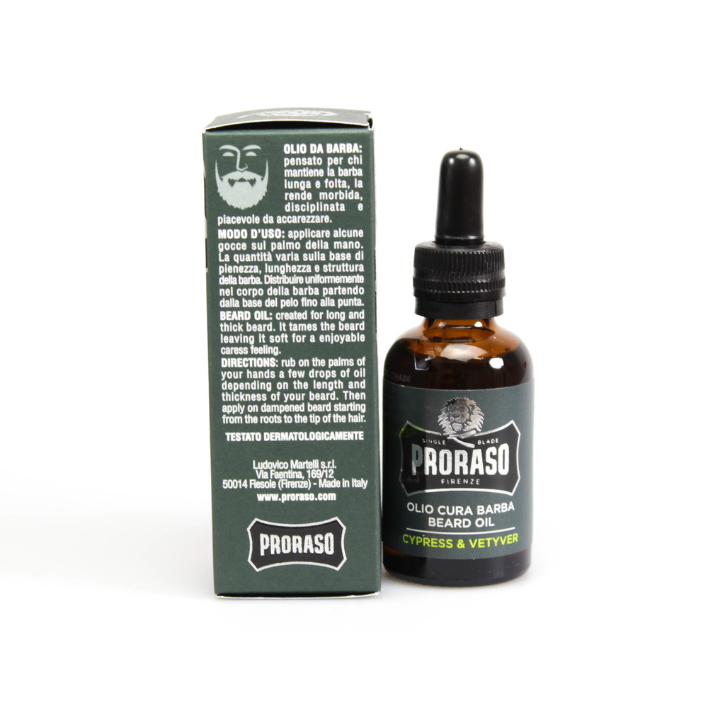 "Proraso ""Single Blade"" Cypress & Vetiver Beard Oil"