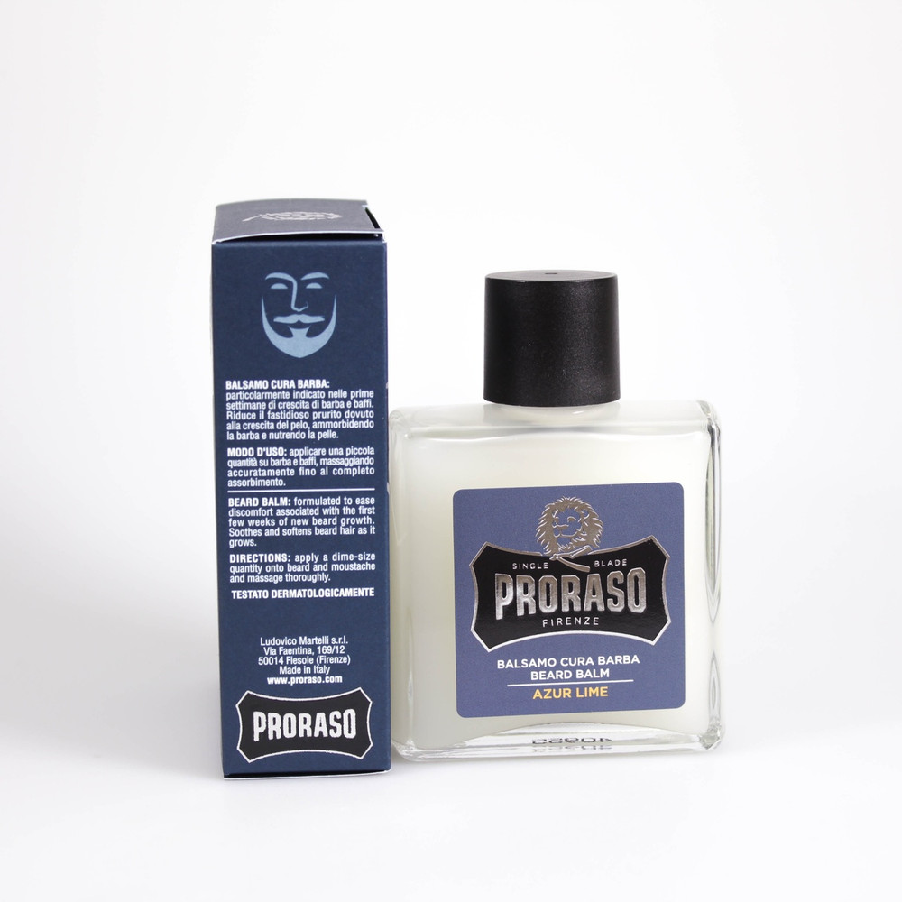 "Proraso ""Single Blade"" Azure Lime Beard Balm"