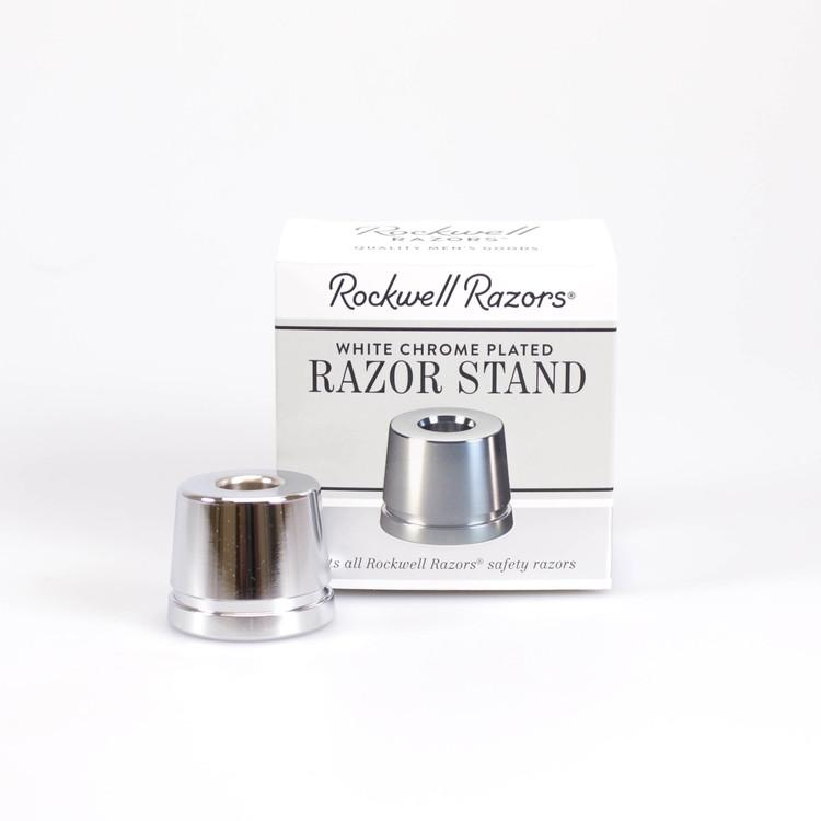 Rockwell Razors Stand - White Chrome