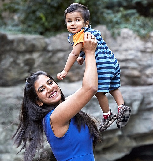 Baby V + Mommy V