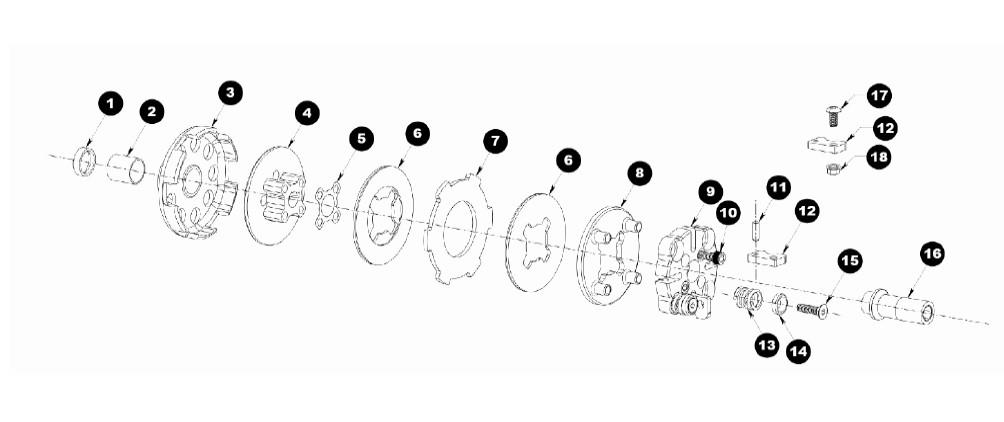 Tomar TD22 Clutch parts diagram.jpg