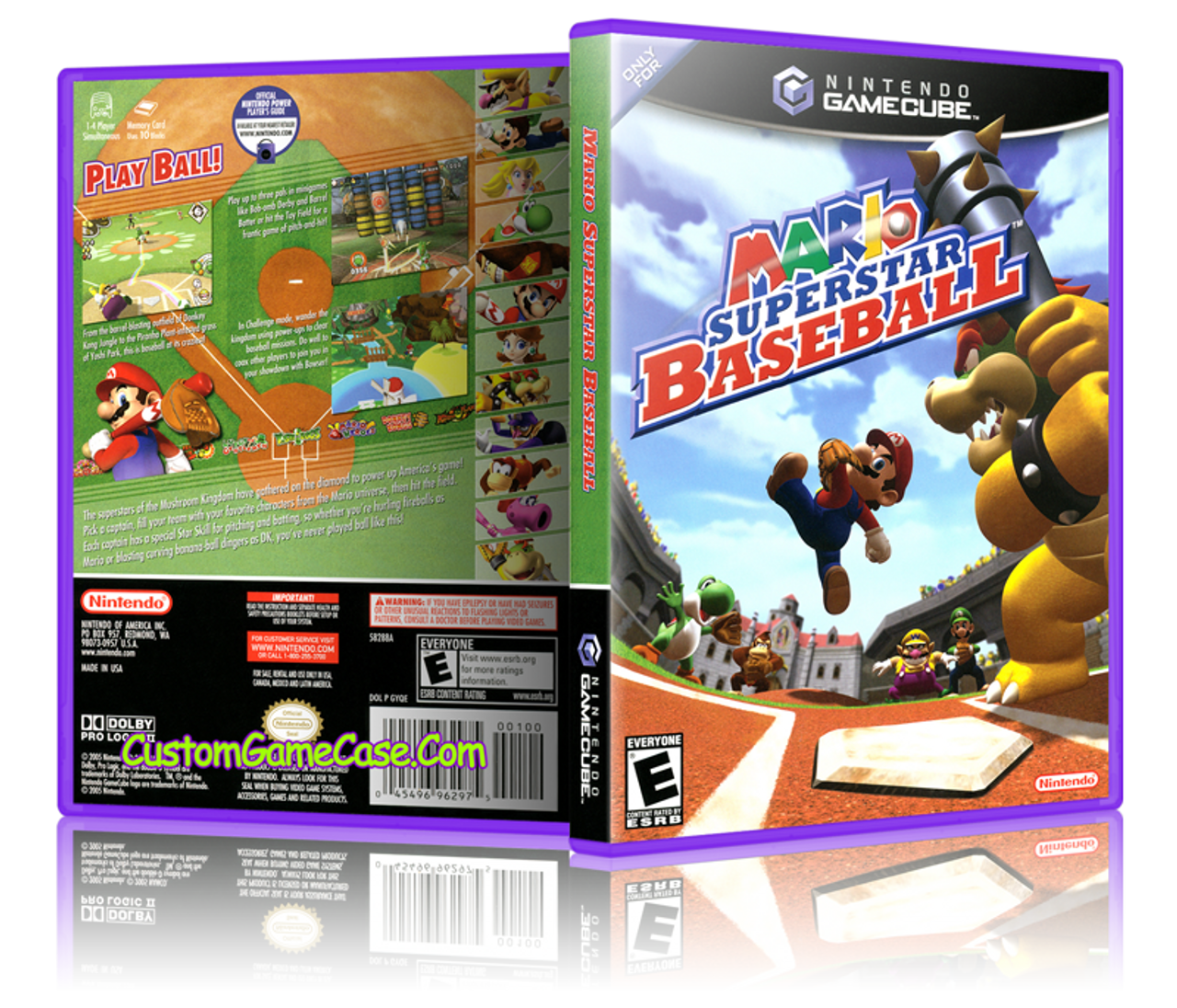 Mario Superstar Baseball Front Cover Artwork