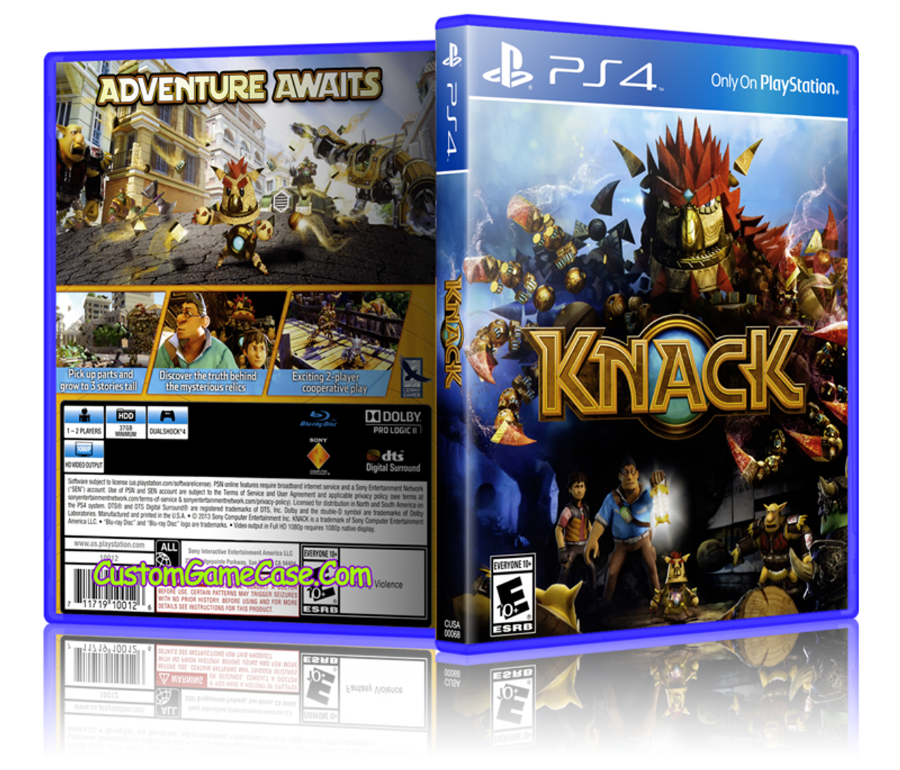 Knack - Sony PlayStation 4 PS4 - Empty Custom Replacet Case ...