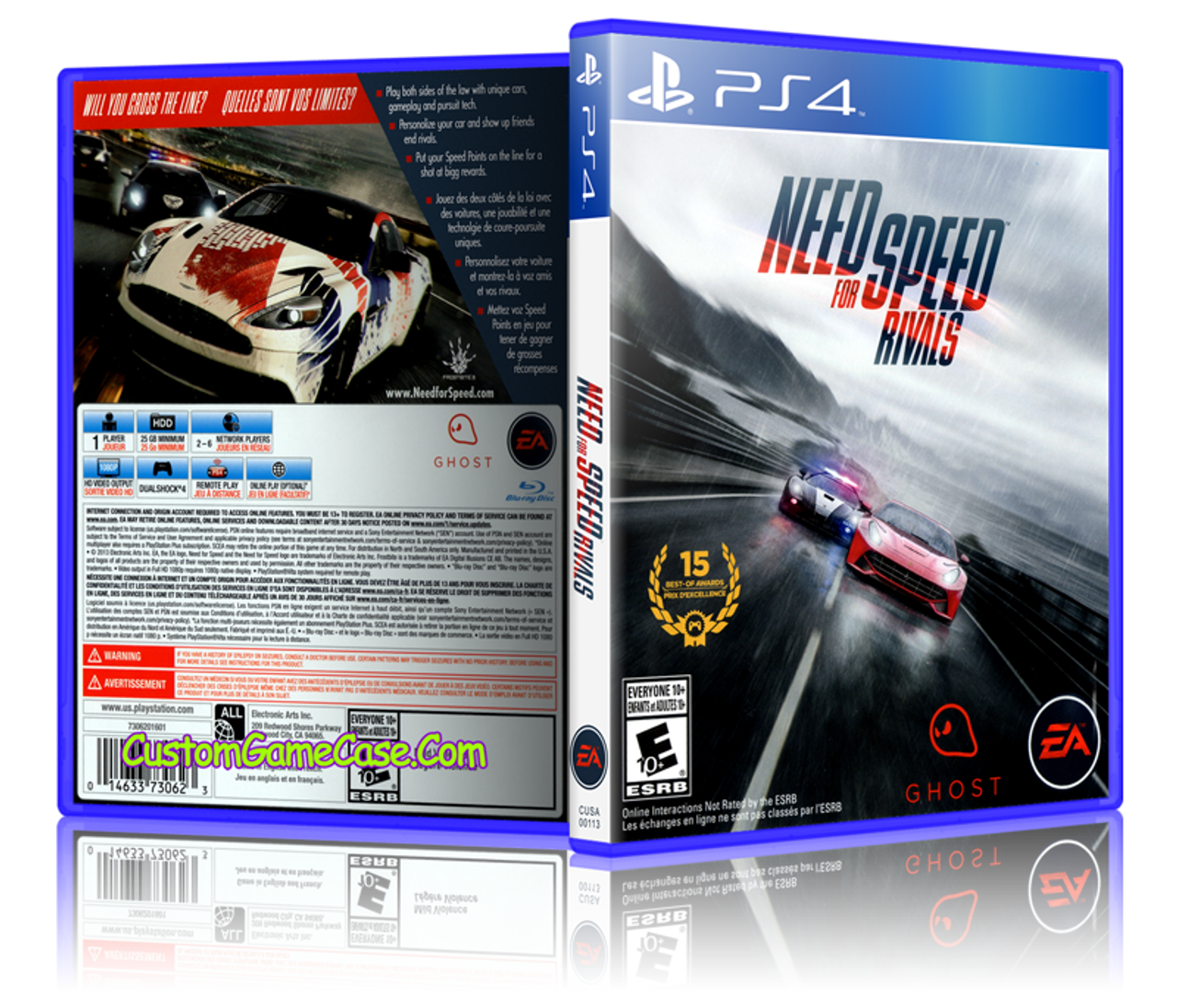 need for speed rivals sony playstation 4 ps4 empty