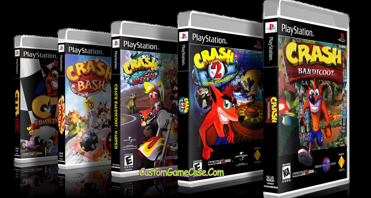 crash bandicoot collection 1 2 warped bash racing sony playstation 1