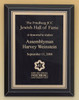Black Glass Recognition Award Plaque with brass plate, Laser Engraved