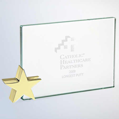 ACHIEVEMENT AWARD W/ GOLD BRASS STAR, 3 sizes available