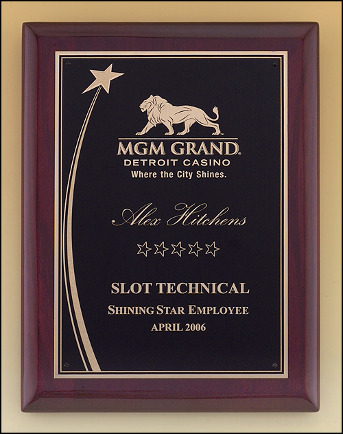 Star theme Recognition Award Plaque, Laser Engraved