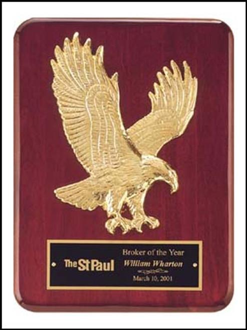 Sculptured Eagle Recognition Award Plaque, Laser Engraved, P3749