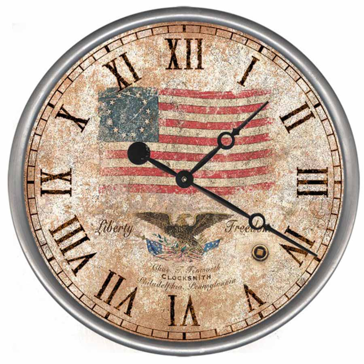 Image result for American Flag and clock