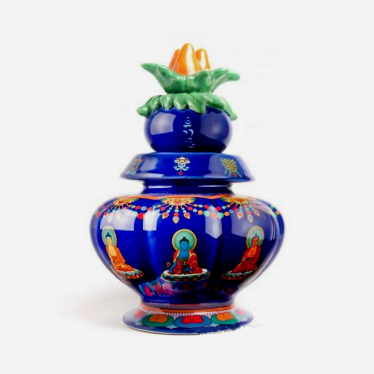 Medicine Buddha Ornate Treasure Vase Zambala Inc