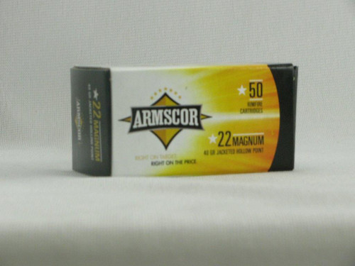 Armscor 22 Magnum 40gr. Jacketed Hollow Point