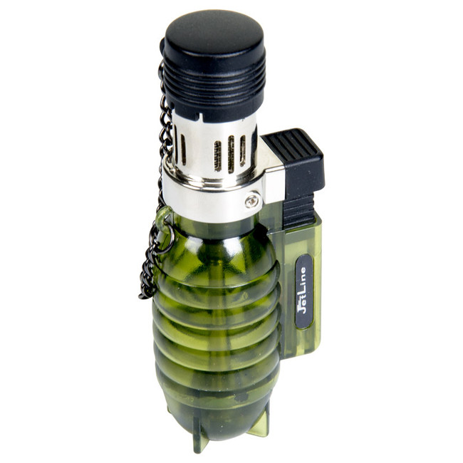 JetLine Grenade Green Table Lighter