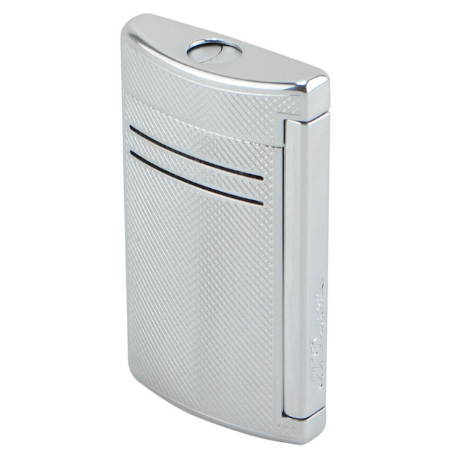 S.T. Dupont Maxi-Jet Torch Lighter Chrome Grid