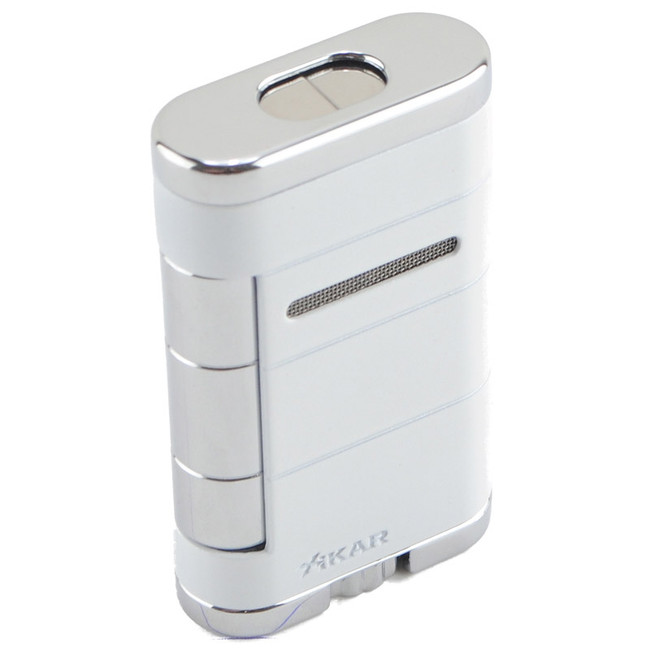 Xikar Allume Double Torch Lighter Alpine White