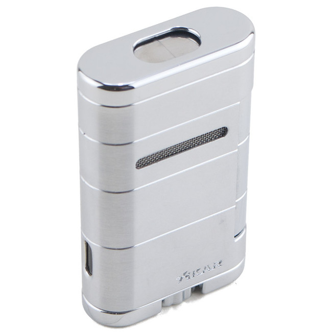 Xikar Allume Triple Tabletop Torch Lighter Steel Silver