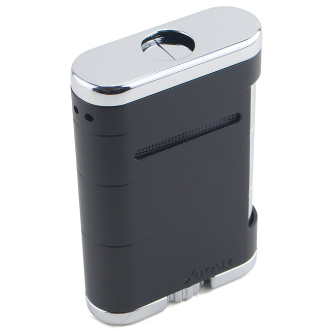 Xikar Allume Triple Tabletop Torch Lighter Tuxedo Black