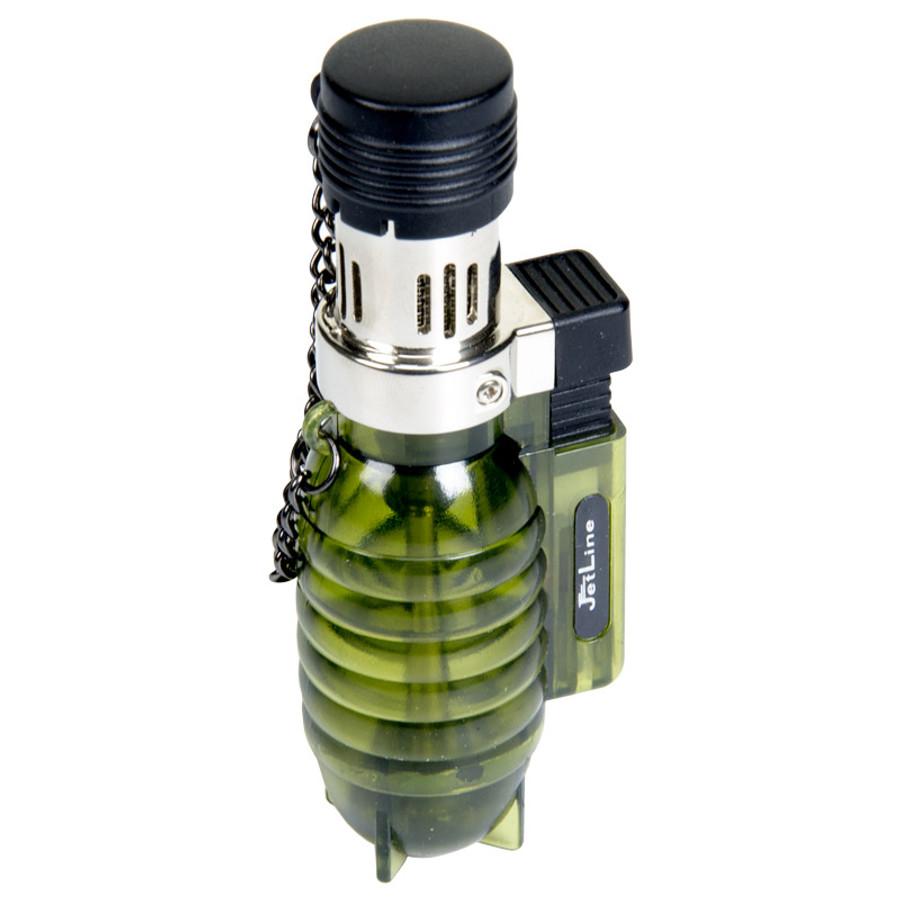 JetLine Grenade Green Table Lighter