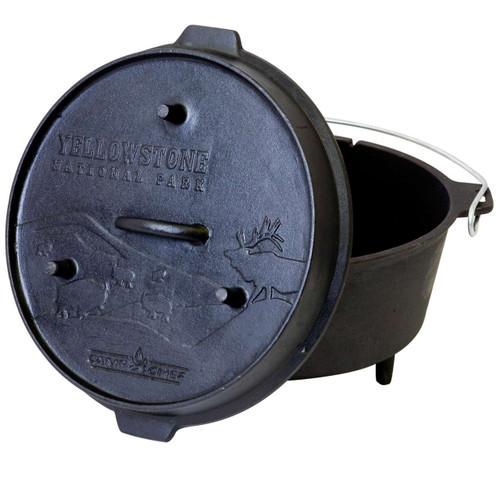 "12"" Cast Iron Deluxe Dutch Oven    9 1/3 Quart"