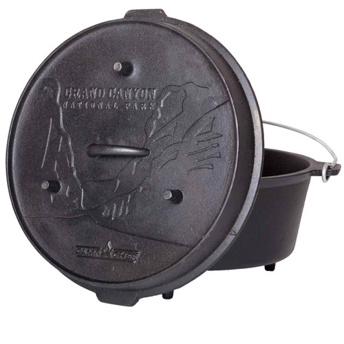 "14"" Cast Iron Deluxe Dutch Oven   12 Quart"